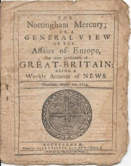 The Nottingham Mercury, 27 August 1724 (1)